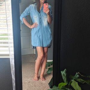 Beachlunchlounge Chambray Tunic Dress Small